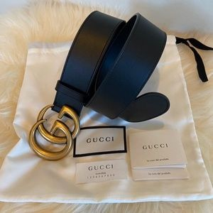 Gucci women's belt black and gold